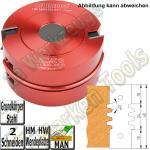 HM HW Wendeplatten Verleimfräser Trapezprofil Guhdo 140x30 H=60mm