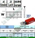 HM HW Wendeplatten Wendemesser 50 x 12 x 1.7 Z4 35° 3-Loch 10 Stück HC05/T04F