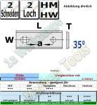 HM HW Wendeplatten Wendemesser 80 x 13 x 2.2 Z2 35° 2 Loch 10 Stück T03SMG