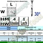 HM Wendemesser HW 14 x 14 x 2 mit Senkung für M5 d=6,4mm (Vorschneider) HC05/T04F 10 Stück