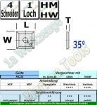 HM Wendeplatte Wendemesser HW 13 x 13 x 2.5mm d=4mm Z4 35° 10 Stück T08MF