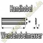 Hobelmesser HM für Elektrohobel 80.5x5.9x1.2mm (10Stck)