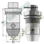 HSK 63 F CNC Pr�zisions Bohrfutter d=3-16