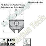 HW Aufstecksenker Z2, 90°, 12mm, D=20mm, Rechts