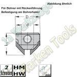HW Aufstecksenker Z2, 90°, 8mm, D=15,5mm, Links