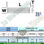 HW HM Mini Wendeplatten Wendemesser Rückennut 30 x 5,5 x 1,1mm Z4 10 Stück MG06