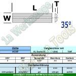 HW HM Mini Wendeplatten Wendemesser Rückennut 40 x 5,5 x 1,1mm Z2 10 Stück HC05