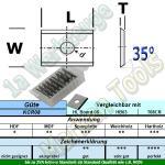 HW HM Wendeplatte Wendemesser 7,5 x 12 x 1.5 Z2 35° 1-Loch 10 Stück KCR08