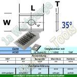 HW HM Wendeplatte Wendemesser 7,5 x 12 x 1.5 Z2 35° 1-Loch 10 Stück HC05