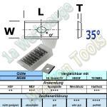 HW HM Wendeplatte Wendemesser 9.6 x 12 x 1.5 Z2 35° 1-Loch 10 Stück MG06