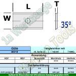 HW HM Wendeplatte Wendemesser 9,6 x 12 x 1.5 Z2 35° 1 Loch 10 Stück MG18