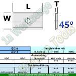 HW HM Wendeplatte Wendemesser 9.6 x 12 x 1.5 Z2 45° 1-Loch 10 Stück MG18