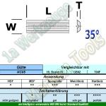 Mini Wendeplatte Wendemesser 20 x 5.5 x 1.1mm Z2 Brustnut 10 Stück HW HM HC05