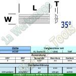 Mini Wendeplatte Wendemesser 30 x 5.5 x 1.1mm Z2 Brustnut  10 Stück HW HM HC05