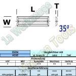 Mini Wendeplatten Wendemesser 50 x 5.5 x 1.1mm Z4 Brustnut 10 Stück HW HM HC05