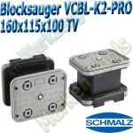 Schmalz CNC Vakuumsauger VCBL-K2-PRO 160x115x100-TV mit Tastventil 160x115mm