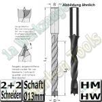 Spiralbohrer HM HW �Ø 15mm x120x185mm S=13mm