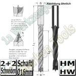 Spiralbohrer HM HW �Ø 16mm x125x190mm S=16mm