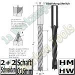 Spiralbohrer HM HW � 18mm x130x200mm S=16mm