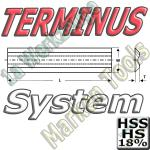 Terminus Hobelmesser 160x14x2.5 HSS18 HS18 2Stck.