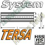 Tersa System Hobelmesser 185mm x10x2.3mm HSS18 HS18 2 Stück