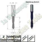 VHW VHM Dübelbohrer Dübelochbohrer Ø 10mm x33x70mm 60° Schaft 10mm  L.