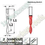 VHW VHM Dübelbohrer Dübelochbohrer Ø 4mm x25x70mm 60° Schaft 10mm L.