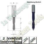 VHW VHM Dübelbohrer Dübelochbohrer Ø 8mm x22x57,5mm 60° Schaft 10mm