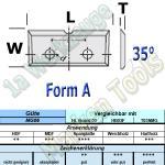 Wendeplatten Wendemesser 16 x 7 x 1,5 mm a=7mm Form A 1Nute für Schloßkastenfräser HM HW MG06 10 Stück