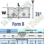 Wendeplatten Wendemesser 16 x 7 x 1,5 mm a=7mm Form B 2Nuten für Schloßkastenfräser HM HW MG06 10 Stück