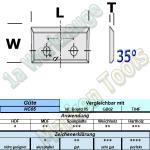 Wendeplatten Wendemesser 16 x 7 x 1,5 mm a=7mm Z4 2-Loch HM HW 10 Stück T04F