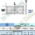 Wendeplatten Wendemesser 17.5 x 7 x 1.5 Z4 35° 1-Loch HM HW HC05 10 Stück