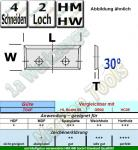 Wendeplatten Wendemesser 23 x 7 x 1.5mm Z4 30°  2-Loch HM HW 10 Stück T04F