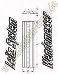 Wendeplatten Wendemesser 24,7 x 8 x 1.5mm Leitz-System 10 Stück HW05