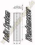 Wendeplatten Wendemesser 50 x 8 x 1.5mm Leitz-System 10 Stück HW05