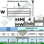 Wendeplatten Wendemesser System KWO/Versofix m.Spanleitstufe 50 x 10 x 1,5mm Z4 10 Stück T03SMG
