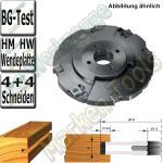 Wendeplatten Verstellnuter mit Zwischenringen HM HW 160mm 4-15mm Z4+2+ V4