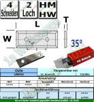Wendeplatten Wendemesser 29.5x12x1.5 Z4 35° 2 Loch HM HW UMG04 10 Stück