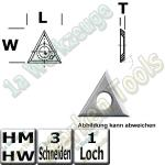 Wendeschneidplatte Wendemesser Z3  22,9 x 19,8 x 2,5mm Standard Qualität 10 Stück