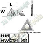 Wendeschneidplatte Wendemesser Z3  22 x 19 x 2mm Softline unten Standard Qualität 10 Stück