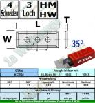 HM HW Wendeplatten 50x12x1.7 Z4 35� 3-Loch 10 St�ck KCR08