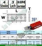 HM HW Wendeplatten Wendemesser 50 x 12 x 1.7 Z4 35° 3-Loch 10 Stück T10MG
