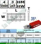 HM HW Wendeplatten Wendemesser 50 x 12 x 1.7 Z4 35° 3-Loch 10 Stück SMG02