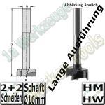 Zylinderkopfbohrer HM HW Z2+V2 Ø35x140mm S=16