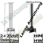 Zylinderkopfbohrer HM HW Z2+V2 Ø50x140mm S=16