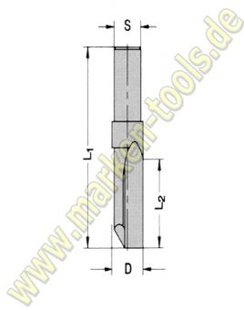 Ø 10mm x22x55mm Z1 VHM Oberfräser HW-So-massiv S=9,5x20mm