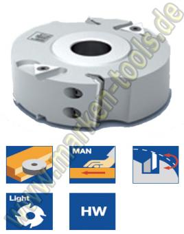 Leitz Wendeplatten Falzmesserkopf ziehender Schnitt Ø125x30x41mm Z2+V4 Alu