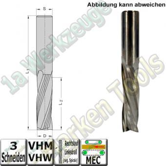 Ø 12mm x42x90mm Z3 Schlichtfräser Spiralnutfräser VHW VHM S=12 RL