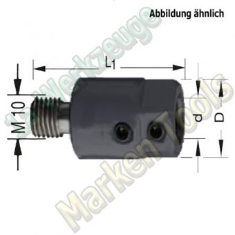 Bohrfutter Spannfutter M10 8mm L1=40mm