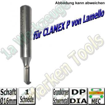CNC Profil-Nut-Schaftfräser DIA DP - für Lamello Clamex P® Ø10/7x18x78mm Schaft 12x50mm